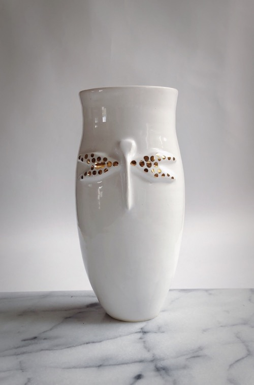 Gold Dragonfly Vase